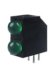L-73EB/2GDA, светодиодная сборка 2шт. зеленый d=4.8mm 20мКд