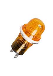 N-809Y-220V, лампа неоновая с держателем желтая 220В d=19мм