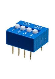 L-KLS7-DS-04-B-00, DIP переключатель 4 поз.(аналог SWD 1-4 ВДМ 1-4)