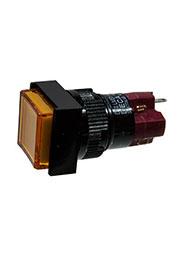 D16LMS1-1ABKY, Переключатель кнопочный без фиксации 250В/5А LED подсветка 24В