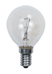 60D1/CL/E14, Лампа  60Вт, сферическая прозрачная, цоколь E14