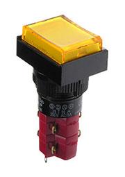 D16LAT1-2ABKY, Переключатель кнопочный с фиксацией 250В/5А LED подсветка 24В