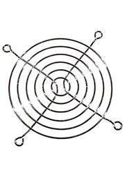 K-G09B06-4HB, решетка метал. для вентилятора 92х92мм