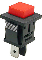 PB-02T-R-G, кнопка без фикс. 125В 1А красн. (аналог SPA-109B1)
