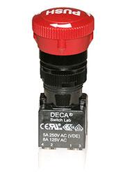 ADA16E6-R22-C10R, Выключатель кнопочный 250В/5А