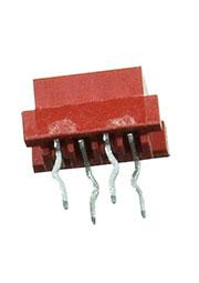 215079-4, Micro-Match-4 розетка на плату прямая 1.27мм