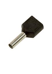 966144-6, наконечник на провод 2х1.5мм2 черный