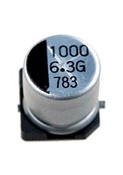 CA006M1000REF-0810, 1000мкф 6.3В 8x10.5 конденсатор электролитический SMD