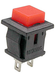 PB-02R-G, кнопка без фикс. 250В 0.5А красн. (аналог SPA-108B1 PSW9A)