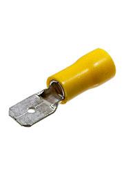 РПИ-П6.0 (6.3), клемма ножевая вилка 6.35мм изол.на провод 4-6мм2