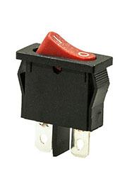 766R, переключатель клавишный красный 2 контакта 250В/6А