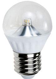 ECOLAMP E27 3W G45-220V WHITE, Св.диод.лампа угол 360 ,цоколь E27,