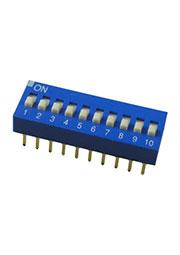 EDG110S, DIP переключатель 10 поз.(аналог SWD 1-10 ВДМ 1-10)