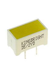 DE/2YD, светодиодная полоса желтая 7.5х14мм 31мКд