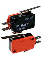SV-162-1C25, микропереключатель с лапкой, 250В, 16А, без ролика