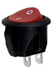 RC15BRBT-G, переключатель клавишный ON-OFF 250B 6A красный
