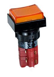 D16LMT1-2ABKO, Переключатель кнопочный без фиксации 250В/5А LED подсветка 24В