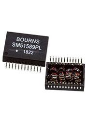 SM51589PEL, трансформатор POE LAN 12.2x17.55x5mm, 350uH 0%, non-shdSMD