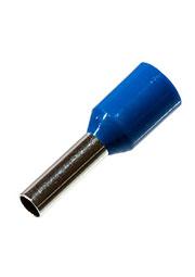 НШВИ2.5 8, втулочный наконечник на провод 2.5мм2 L8мм синий
