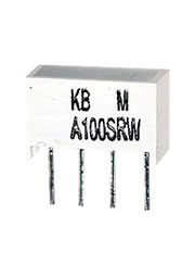 KB-A100SRW, светодиодная полоса красная 8.89х3.81мм 100мКд