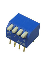RPL-04, DIP переключатель 4 поз.уг.90 (аналог SWD3-4)
