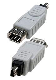 6-094, переход IEEE 1394 4p  шт  - IEEE 1394 6p  гн