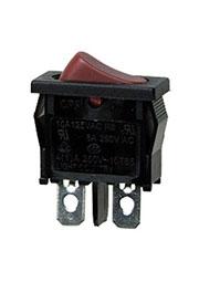 R612BROT-G, переключатель клавишный ON-OFF 250В 6A красный