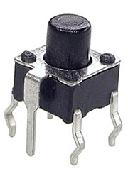 0670GHIM-130G-G, кнопка тактовая 6х6 с заземл. h=7мм (аналог TS-A3PG-130)