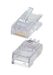 5-554720-3, TP8P8C (RJ45) 3-cat. вилка сетевая позолоч.