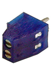 308-021-14, клеммник винтовой 2 контакта 2.54мм