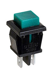 PB-02TGN-G, кнопка без фикс. 125В 1А зелен. (аналог SPA-109B4)