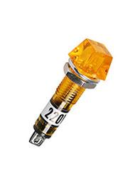 N-815Y-220V, лампа неоновая с держателем желтая 220В d=9мм
