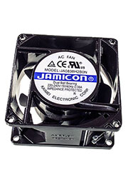 JA0838H2B0N-T, вентилятор 220В 80х80х38мм подшипник качения клеммы