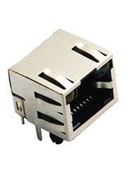 L-KLS12-108-8P8C-1X1-2-Y/G-0-01, розетка RG-45 с двойной индикацией, экранированный