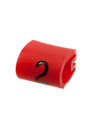 EC0180-000, 05811202, маркер  2  на кабель 2-3.2мм красный