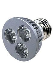 FEX106 E27, 3x1W 220В лампа светодиодная, цвет теплый белый