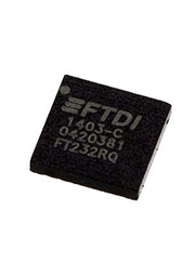 FT232RQ-REEL, Преобразователь USB-UART, реж.Bit Bang, Ind EEPROM-1K [QFN-32]
