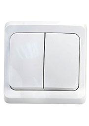 BC10-006B, Выключатель  Этюд  2-кл СП   10А (белый)