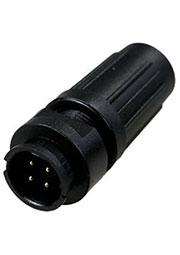 PY07-4Z, вилка на кабель пластик. IP67 4 контакта 4А 250В