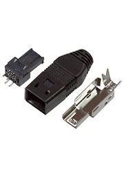 Mini USB-A, вилка на кабель 4 контакта