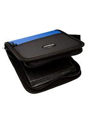 Кейс для CD/DVD 28дисков(ткань/молния)синий CASKA