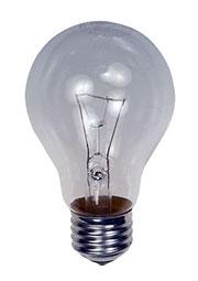 60A1/CL/E27, Лампа  60Вт, прозрачная, цоколь E27, D=60mm