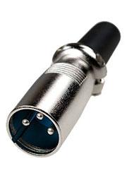 1-505(XLR-MC-104), разъем XLR 3 конт. штекер металл на каб. с хомутом (60мм