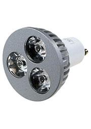 FEX106 GU10, 3x1W 220В лампа светодиодная, цвет теплый белый