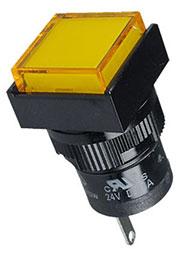 D16PLS1-000KY, индикатор светодиодный желтый 24В