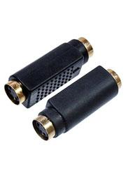 2-320G, переходник MINI DIN 4 pin(S-VHS)гнездо - MINI DIN 4 pin(S-VHS)гнездо пластик