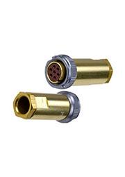 PY04-7T, розетка на кабель с кожухом IP68 7 контактов (аналог РС7ТВ)