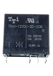 TRIH-12VDC-SD-2CM-R, реле 10A/250VAC, 10A/30VDC