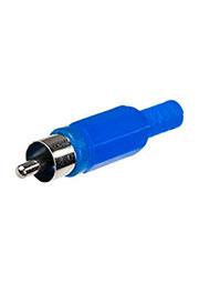 1-200 BL (RP-405), штекер RCA  пластик на кабель синий