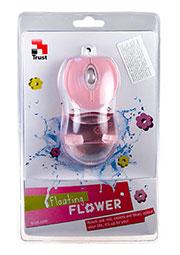 Мышь Trust Floating Flower Pink, Оптическая мышь,USB